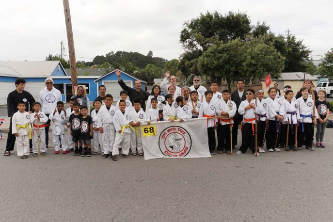Group photo of karate class