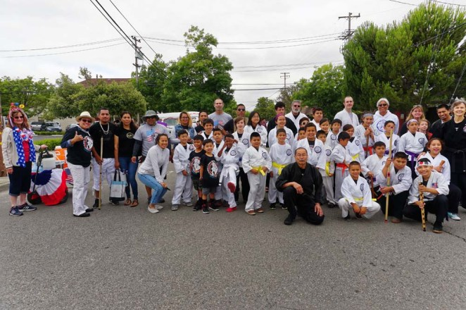 Students and instructors in group