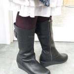 クロックスの『a-leigh leather boot w(アレイ レザー ブーツ ウィメン)』はふくらはぎが太めでも履けるブーツ