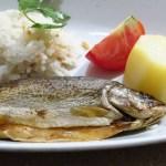 【トルコ旅行】6日目昼食 洞窟レストランで川マスのグリル