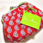 ヴェラ・ブラッドリー『Kiss Kiss Coin Purse』の Petite Red Bandana Paisleyをハワイのお土産でいただいたよ♪
