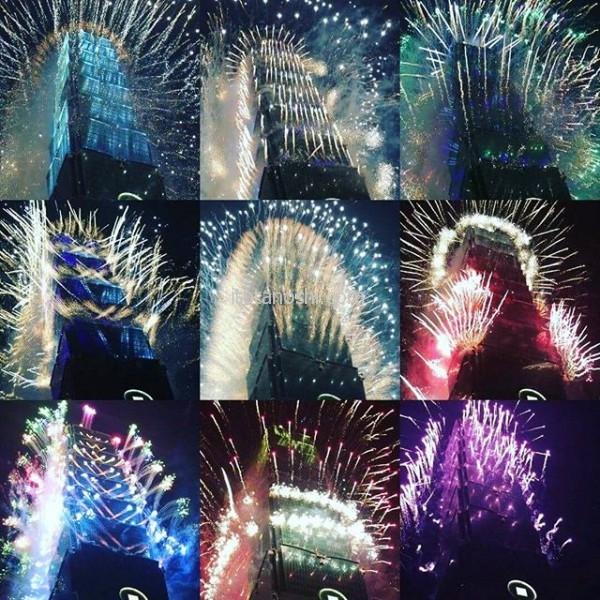 新年快樂!夫や家族のおかげで、念願の台湾での年越しをすることができました。ずっと見たかった花火が見られて、最高な2016を締めくくることができて、さらに素晴らしい2017を過ごせそうです。昨年は大変お世話になりました。本年もどうぞよろしくお願いいたします。#台湾 #台北 #花火 #越年 #101 #あけおめ #新年 #おめでとう #新年 #快樂