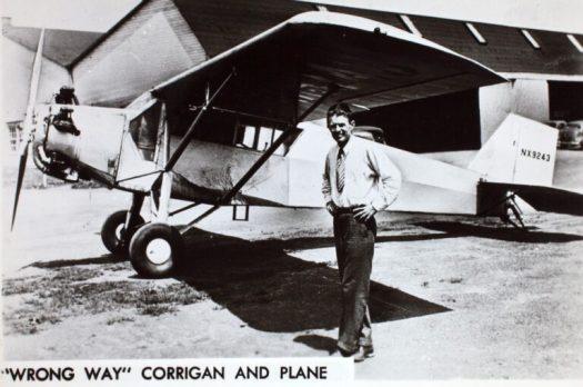 Douglas Corrigan and his plane