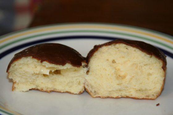 A Boston cream donut