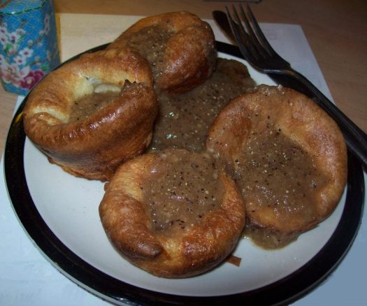 Yorkshire puddings with gravy