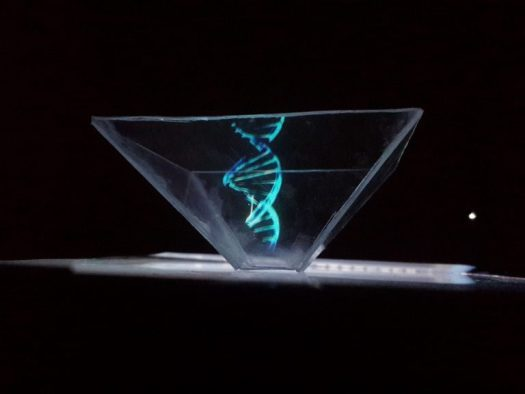Hologram of a DNA model