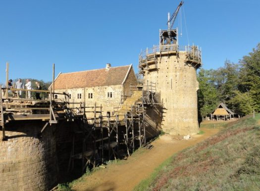 A portion of Guédelon castle under construction in 2012