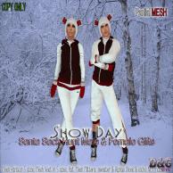 D&G SNOW DAY SANTA SACK HUNT GIFT PIC