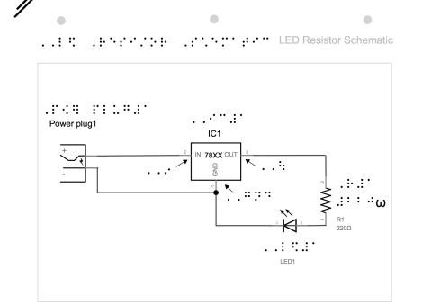 Emily's design of led resistor in series