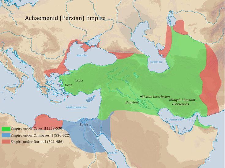 Det gröna området omfattar allt mellan Grekland och Indien