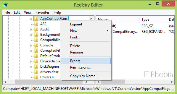 Microsoft setup bootstrapper has stopped working registry editor export
