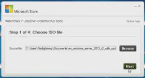 windows 7 usb dvd download tool select iso file