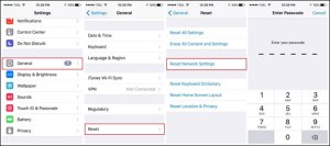 iPhone won't connect to Wi-Fi reset network settings