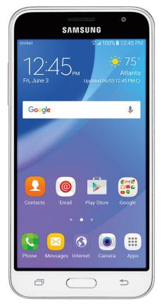 Samsung Galaxy amp prime front