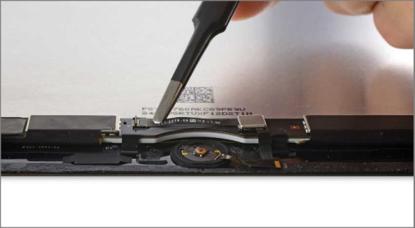 iPad air 2 screen replacement - Step 38 -Disconnect the Home Button ribbon cable