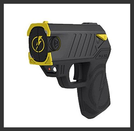 self defense tools - Taser gun Taser Pulse with Laser LED 2 Cartridges Holster Target Black Finish
