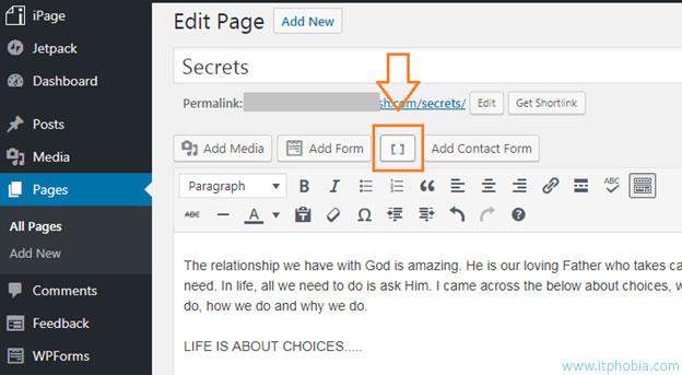 WordPress Column Creating plugin shortcode