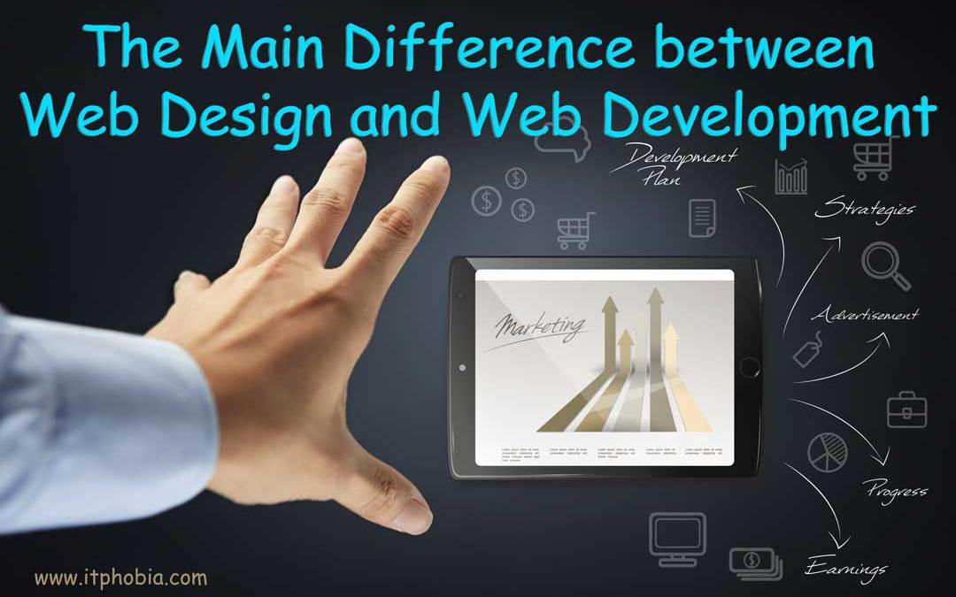 difference between web design and web development featured image