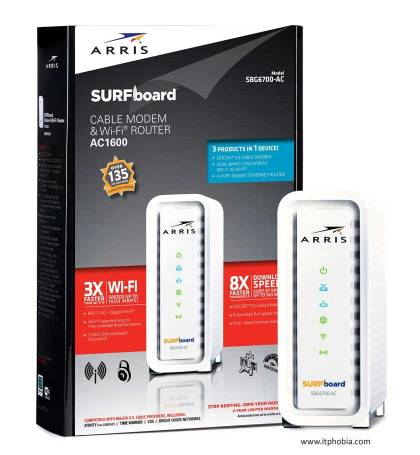 best modem router combo ARRIS SURFboard SBG6700AC