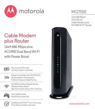 best modem router combo Motorola AC1900 Wi-Fi Gigabit Router and modem