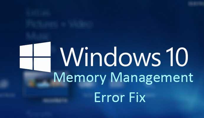 windows 10 Memory management