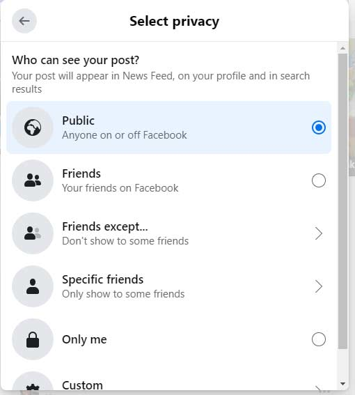 Select privacy