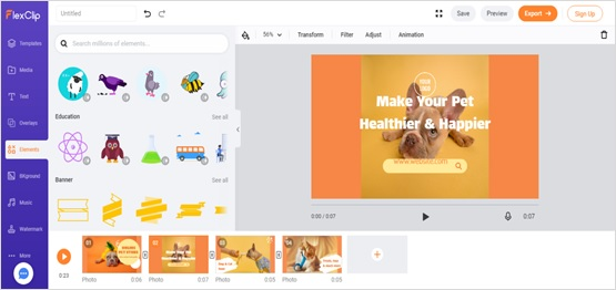 Create video with flexclip