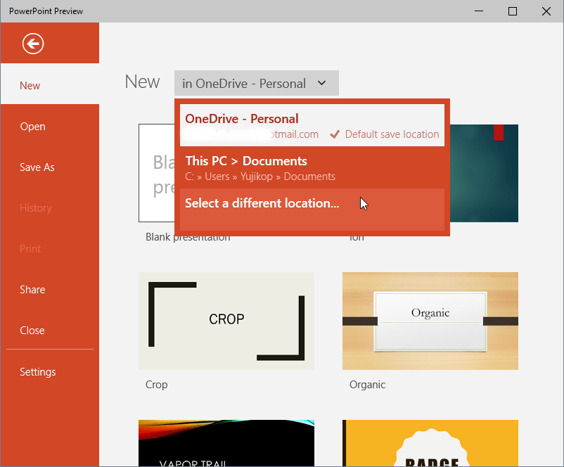 PowerPoint Preview Touch new