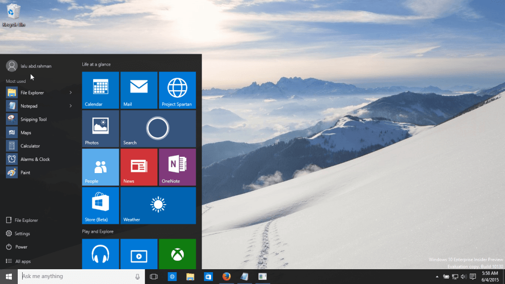 Windows 10 build 10130