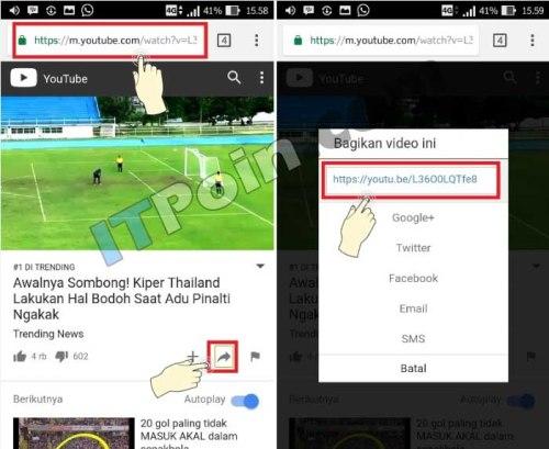 Melihat URL Link Youtube di HP Android