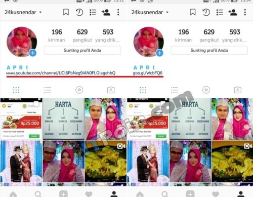 Cara Membuat Link Youtube di Instagram
