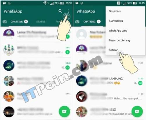 merubah wallpaper WA Android
