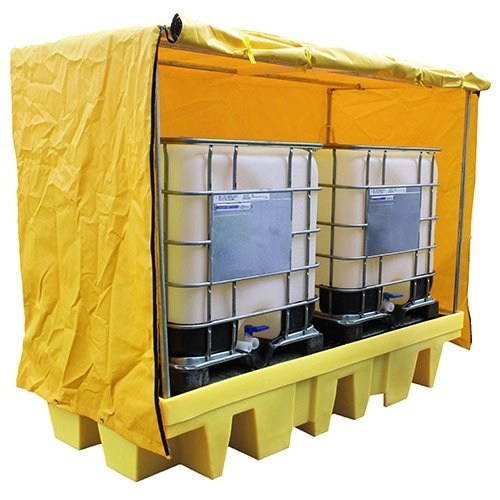 Covered Twin IBC Spill Pallet