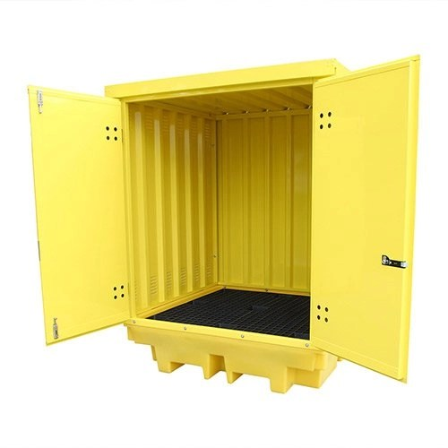 Poly Drum Spill Pallet with Steel Cover (4-Drums)