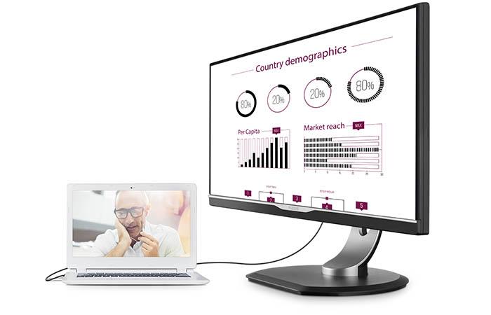 Philips lanserer skjerm med USB-C tilkopling
