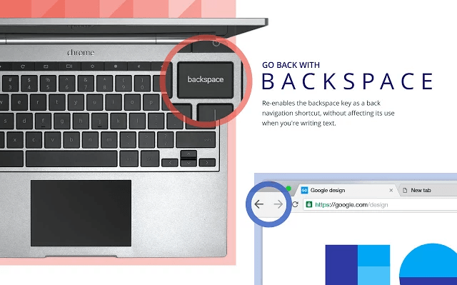 Google Chrome backspace