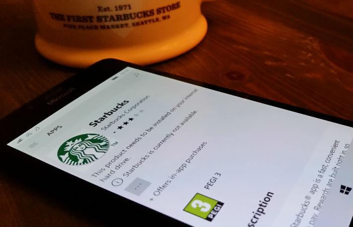 Fjerner Starbucks-appen fra Microsoft Store