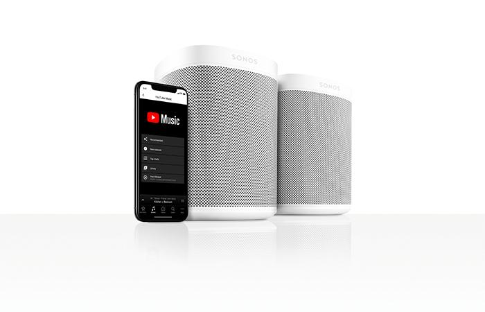 YouTube Music tilgjengelig på Sonos