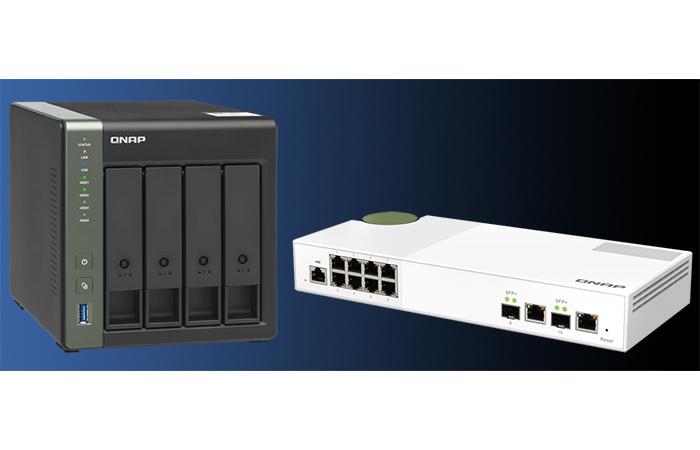 QNAP TS-431X3 og QSW-M2108-2C