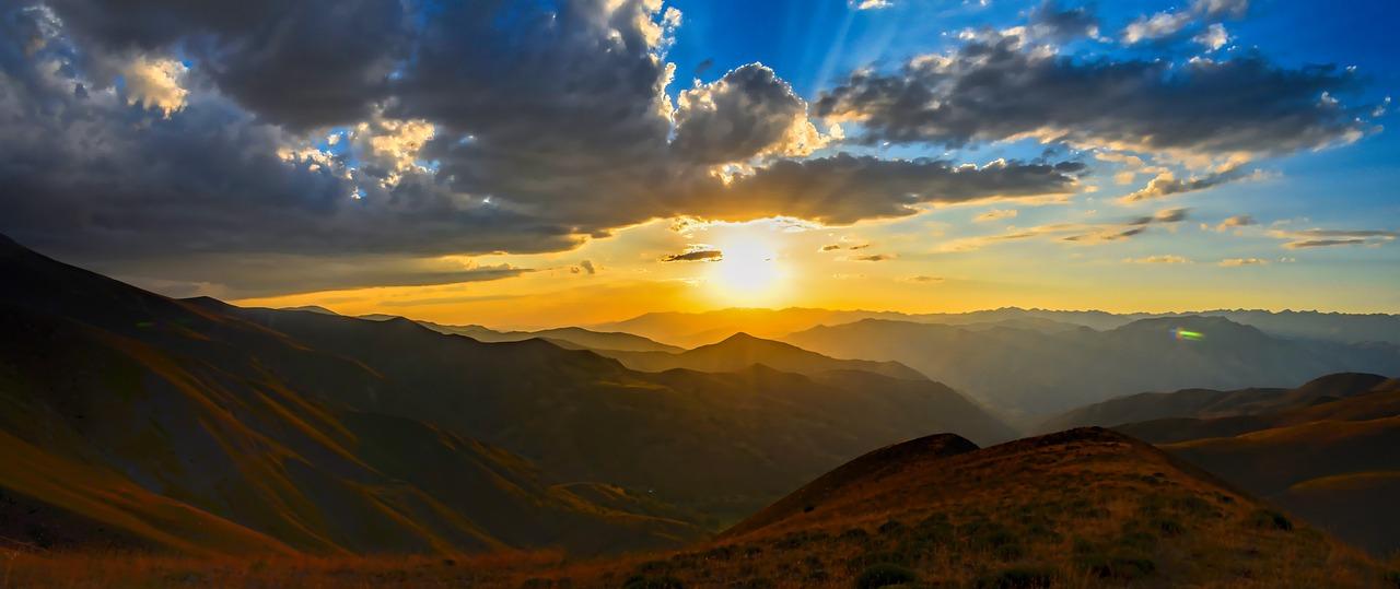 horizon, solar, sunset