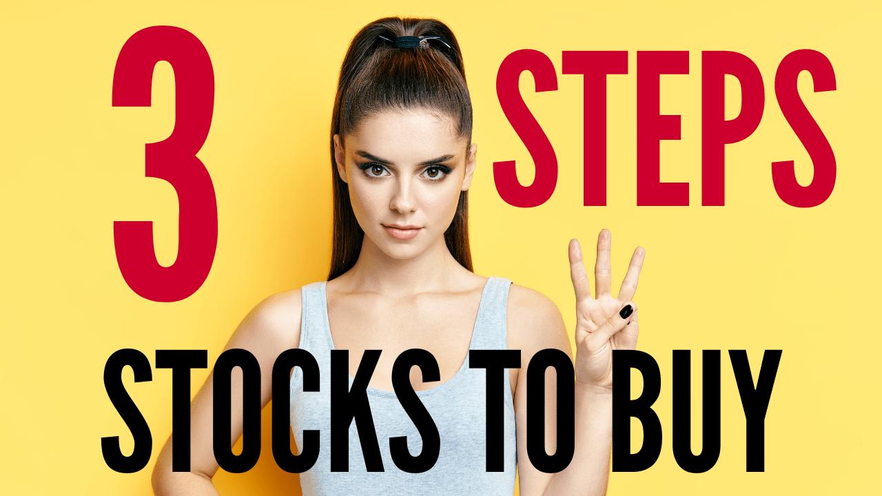 3 steps stocks to buy for beginners
