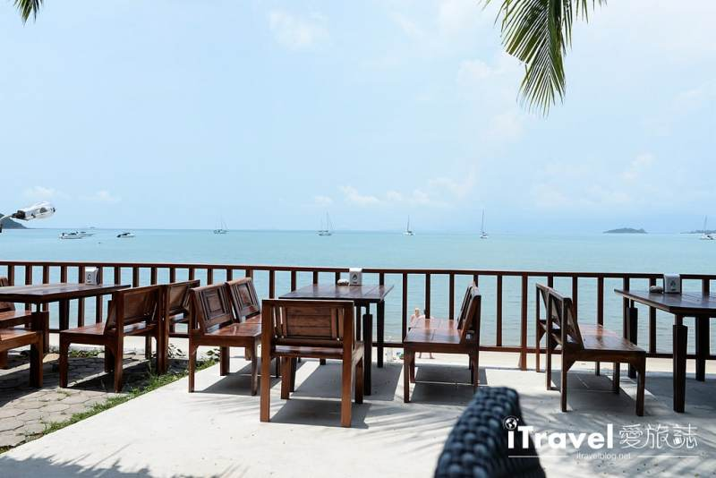 《蘇美島餐廳推薦》忠爹海鮮料理 Daetong Seafood Restaurant,沙灘海水連天一色