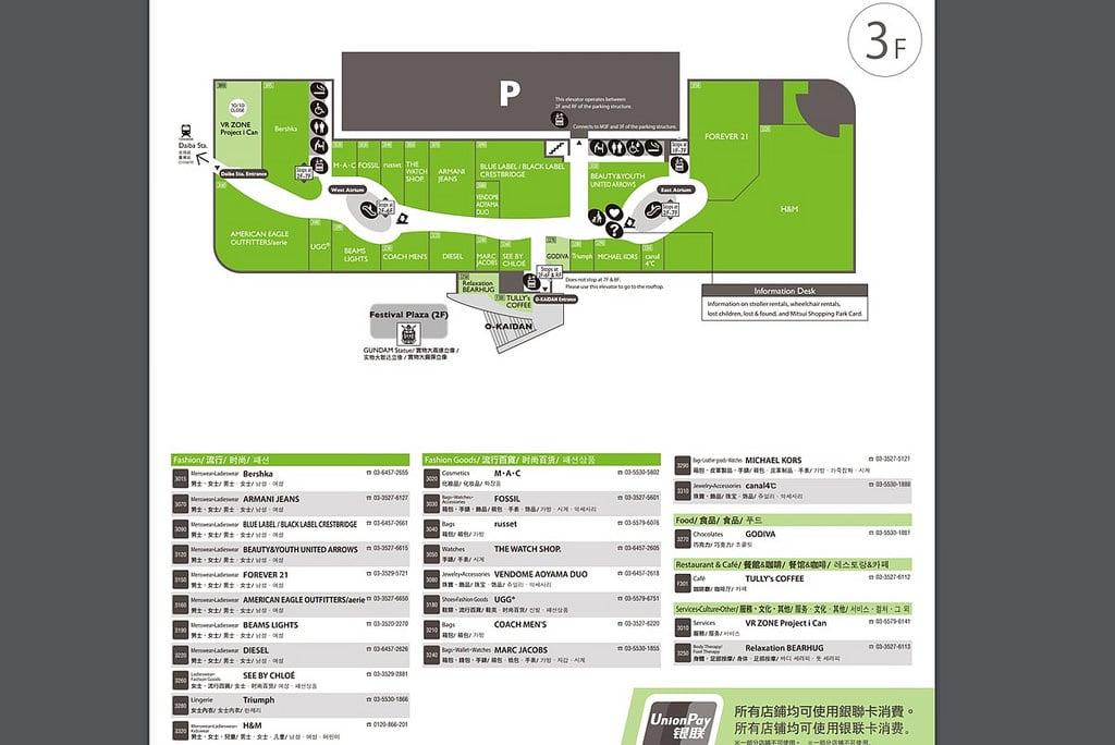 《東京購物中心》Diver City:應有盡有的台場大型購物廣場