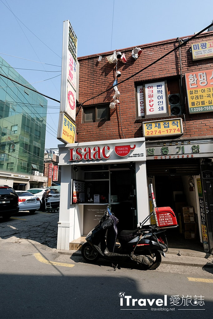 《首爾早餐推薦》Isaac Toast &Coffee:廣藏市場的免排隊分店,現做現吃開啟元氣行程