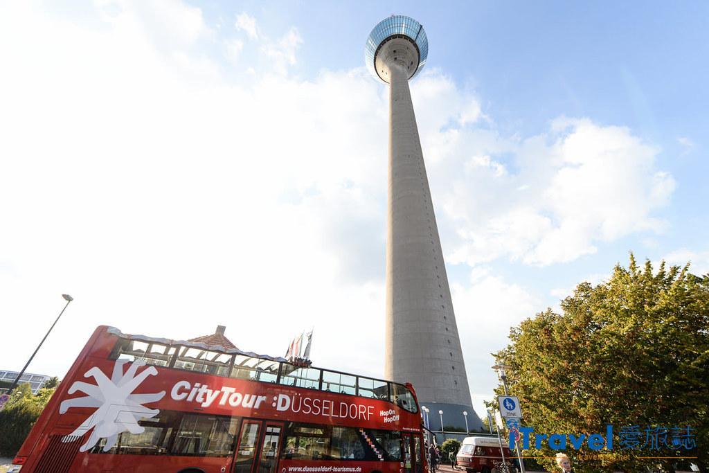 杜塞道夫景點 萊茵塔Rheinturm (1)