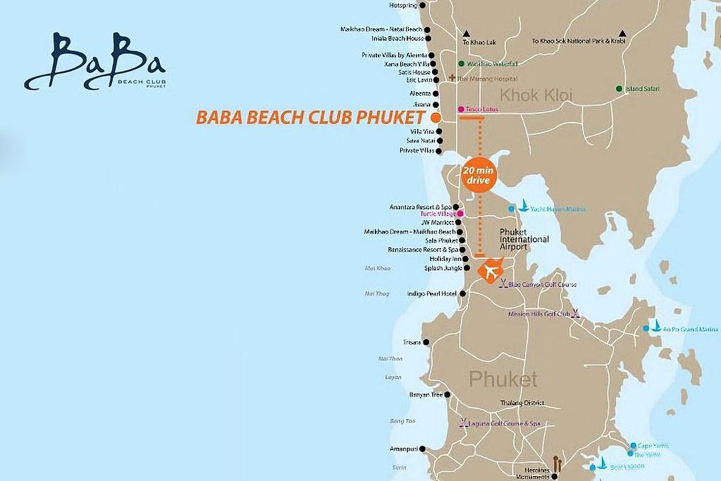 Baba Beach Club Phuket Luxury Pool Villa Hotel by Sri Panwa Map