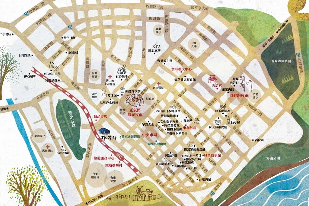 台東市觀光地圖