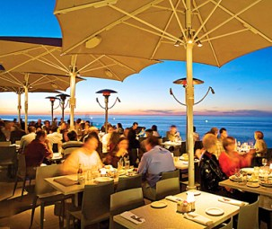 Rooftop Dining at George's