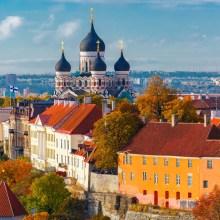 Skyline view of Tallinn, Estonia