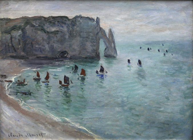 Etretat - Monet painting